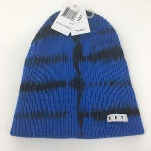 NEFF Mens Roll Dye Beanie Blue Black One Size NEW